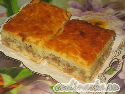 Пирог мясной на кефире