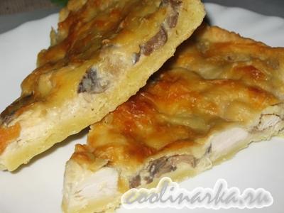 Пирог «Жульен» с курицей и грибами