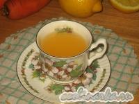 Морковный кисель с лимоном